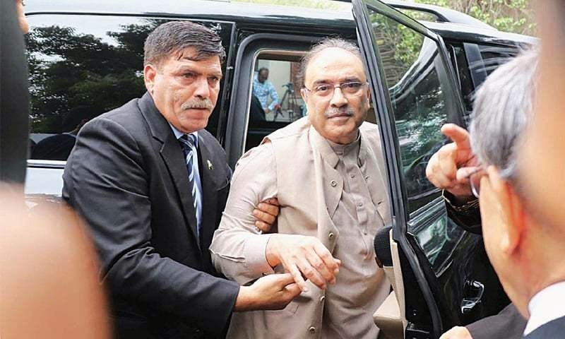 The Islamabad High Court (IHC) on Tuesday granted interim bail till June 13 to former president Asif Ali Zardari in a case related to alleged award of illegal contracts. — DawnNewsTV/File