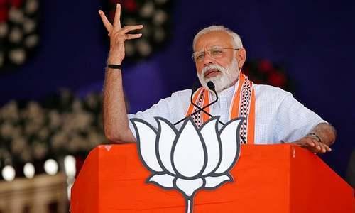 نریندر مودی کی جماعت بھارتیہ جنتا پارٹی نے 17ویں لوک سبھا انتخابات میں کامیابی حاصل کرلی — فائل فوٹو/رائٹرز