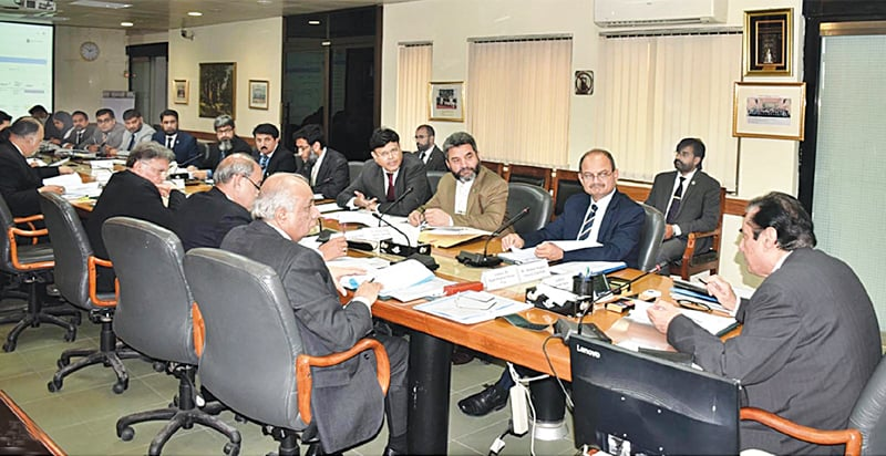 National Accountability Bureau chairman retired Justice Javed Iqbal chairs an executive board meeting at the NAB headquarters on Thursday. — INP