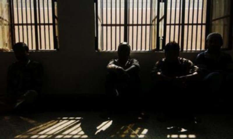Suspects booked in a case pertaining to alleged abduction of a 15-year-old girl, her rape in  Ittehad Town. — AFP/File