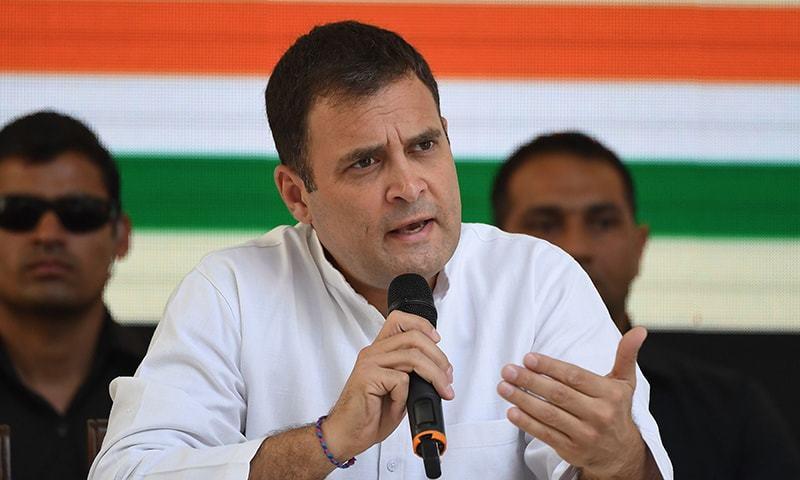 راہول گاندھی پارٹی کے سینٹرل کمیٹی اجلاس میں استعفیٰ کا فیصلہ کریں گے۔ — فائل فوٹو: اے ایف پی