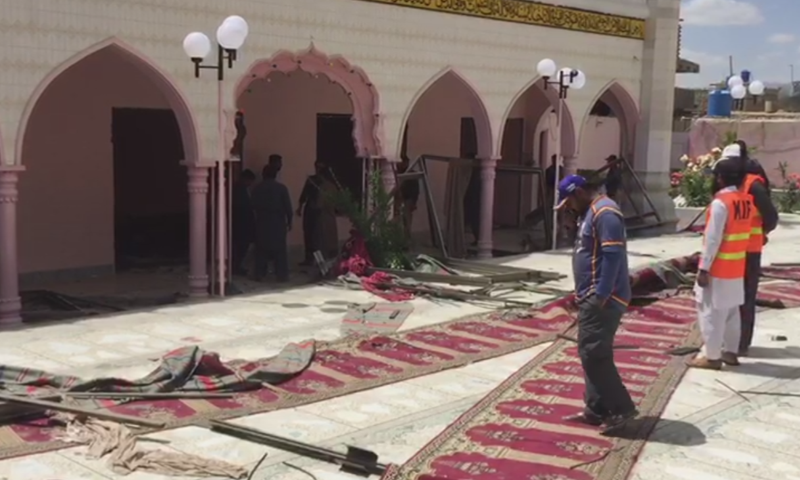 ملک میں رمضان المبارک کے دوران ہونے والا دہشت گردی کا یہ پانچواں واقعہ ہے— فوٹو: ڈان نیوز