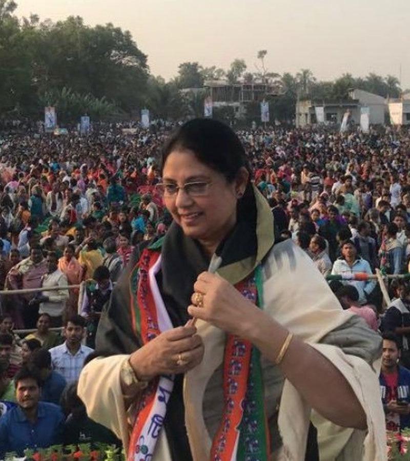 ساجدہ احمد ریاست مغربی بنگال سے کامیاب ہوئی ہیں—فوٹو: ٹوئٹر