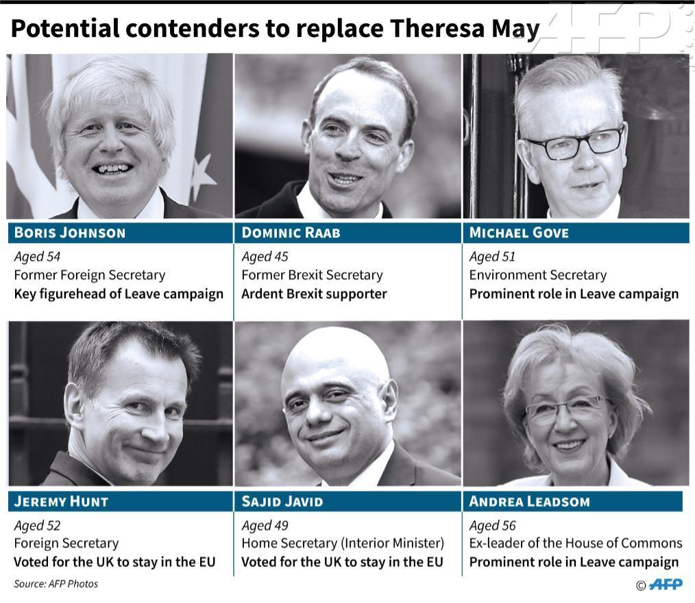 Possible contenders. ─ AFP