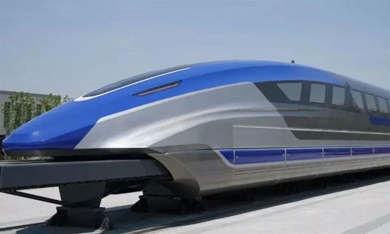 چین کی تیز ترین پروٹوٹائپ ٹرین — فوٹو بشکریہ سی آر آر سی