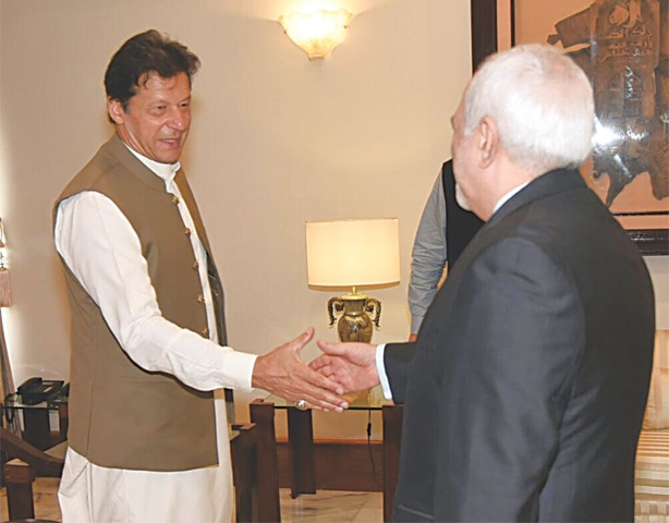 ISLAMABAD: Prime Minister Imran Khan receives Iranian Foreign Minister Javad Zarif on Friday.