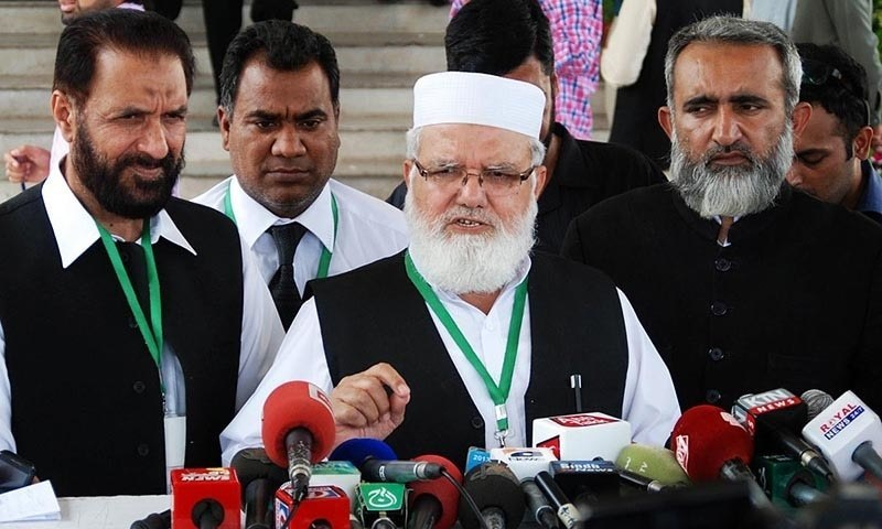 JI's acting emir Liaqat Baloch says Indian premier will have to give up extremism for regional peace. — Online/File