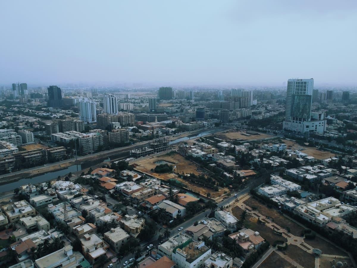 An aerial view of Clifton, Karachi
