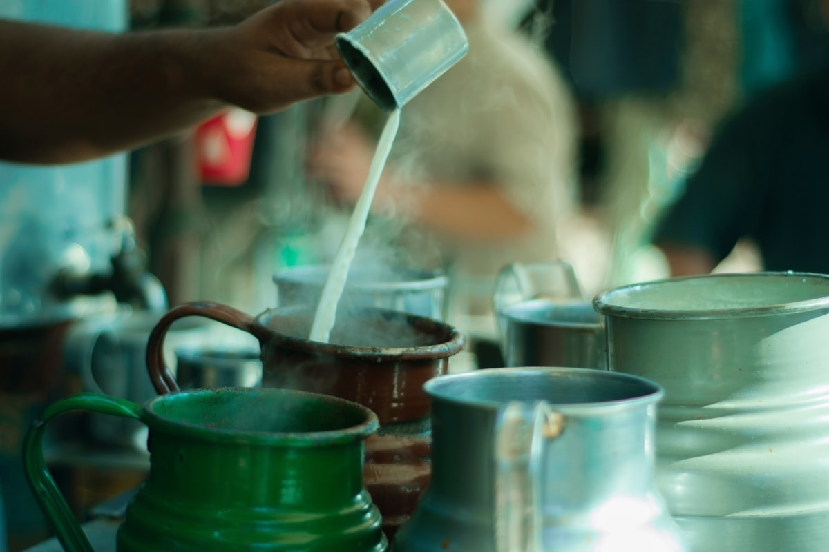 The process of making tea always interests visitors on tour and is a favorite for Instagram boomerangs