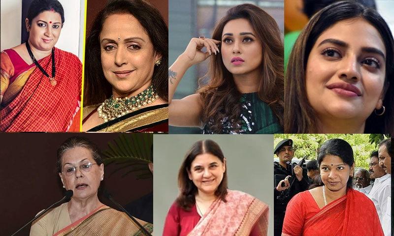 پہلی بار 78 خواتین لوک سبھا میں پہنچی ہیں—فائل فوٹو: آؤٹ لک انڈیا/ فیس بک/ ٹوئٹر/ دی کوئنٹ