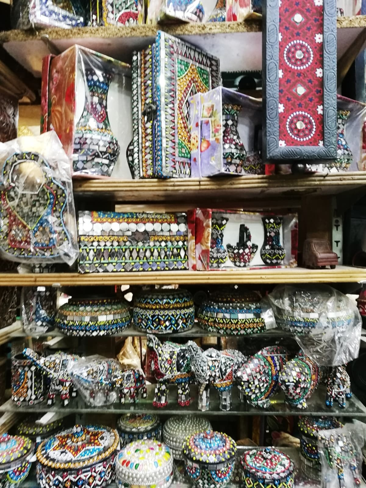 Tiny little shops containing locally produced souvenir-type items such as these are fairly easily found around old town