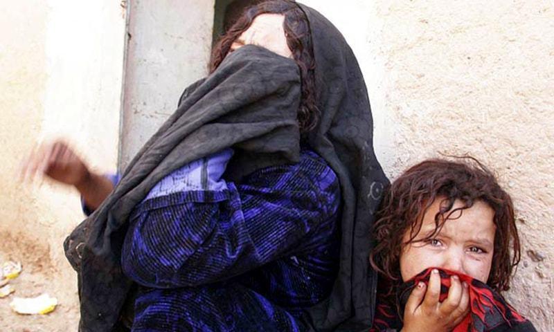 متاثرین کے اہلخانہ نے جلال آباد میں انصاف کے لیے احتجاج کیا — فائل فوٹو /ڈان نیوز