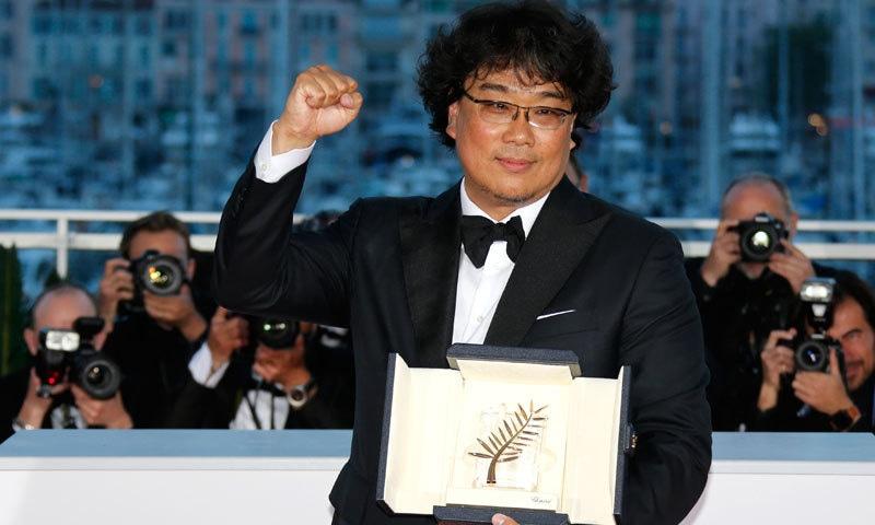 بونگ جون ہو کی فلم  پیراسائٹ نے پام ڈور ایوارڈ حاصل کرنے والی پہلی کورین فلم بن گئی — فوٹو: رائٹرز