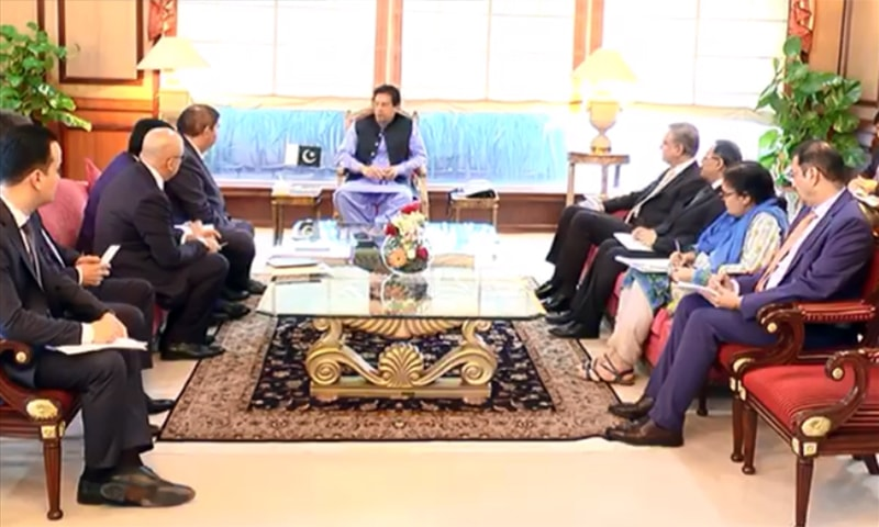The understanding was reached during a meeting between Prime Minister Imran Khan and Uzbekistan Deputy Prime Minister Elyor Ganiyev. — Photo courtesy Radio Pakistan