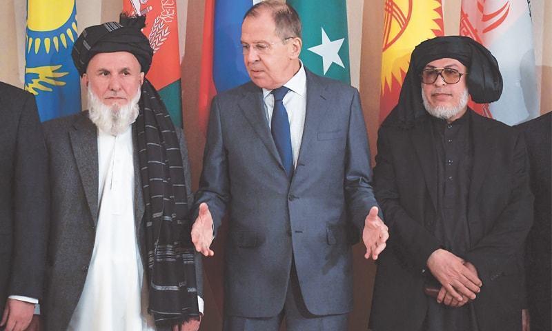 ملاقات کا اہتمام افغانستان اور روس کے درمیان سفارتی تعلقات کے قیام کے 100 سال مکمل ہونے پر کیا گیا —  فوٹو: اے اہف پی