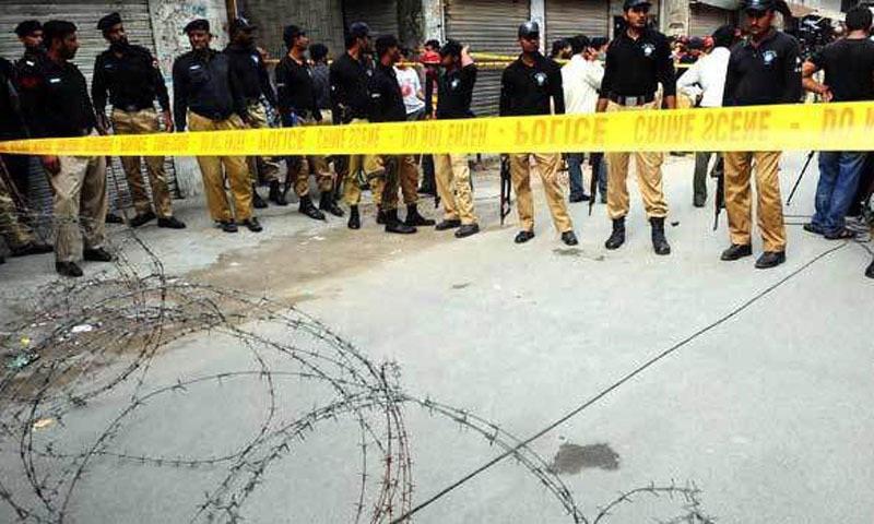 DIG-East Amir Farooqi told Dawn that police got reports that terrorists might target the Yaum-i-Ali procession. — APP/File