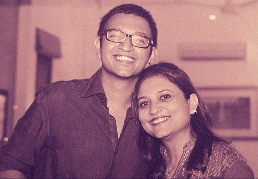 Emad with his mother, Atiya Naqvi, on his 21st birthday.