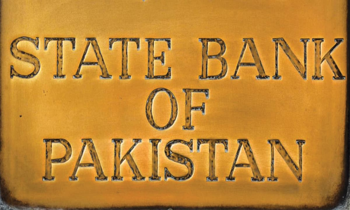 A plaque outside the building of State Bank of Pakistan in Karachi | Reuters