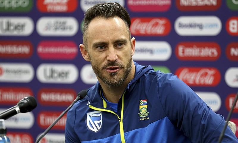 South Africa's Faf du Plessis speaks during a press conference at The Oval, London on Wednesday May 29; on the eve of the opening match of the Cricket World Cup. — AP
