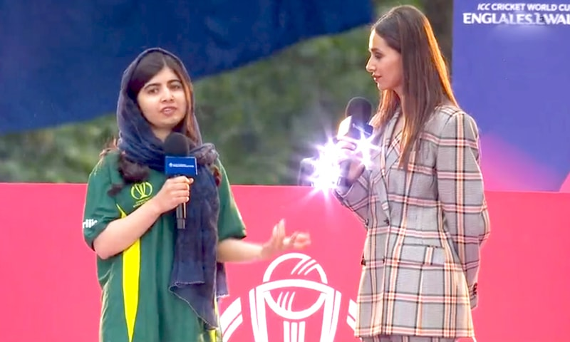 Malala gives an interview following the 60-second challenge.