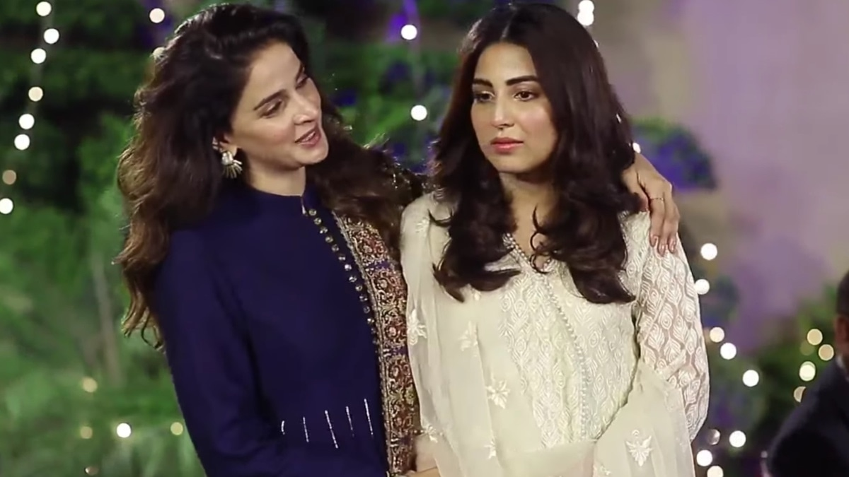 Saba Qamar and Ushna Shah in a still from Cheekh