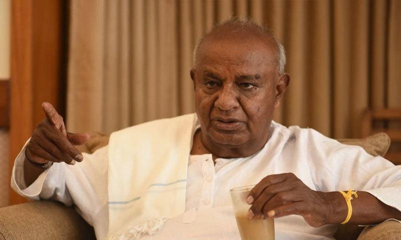 ایچ بی دیوے گوڑا کو اتفاقی وزیر اعظم بھی کہا جاتا ہے—فائل فوٹو: ہندوستان ٹائمز