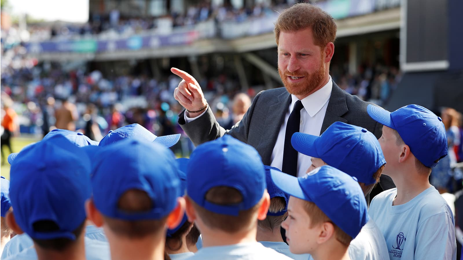 Britain's Prince Harry during the opening ceremony before the match at The Oval, London on May 30. — Reuters
