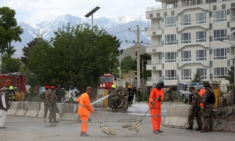 خودکش حملہ آور پیدل آیا تھا، ترجمان کابل پولیس — فوٹو: اے پی