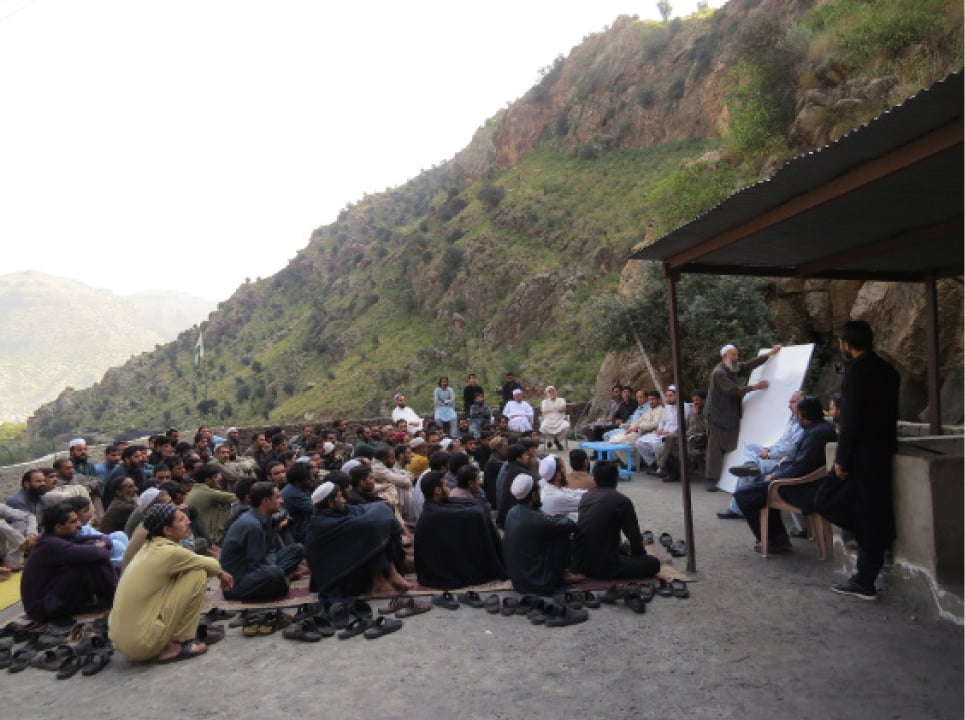 A safety training workshop in Darra Adam Khel | Photos by Aurangzaib Khan