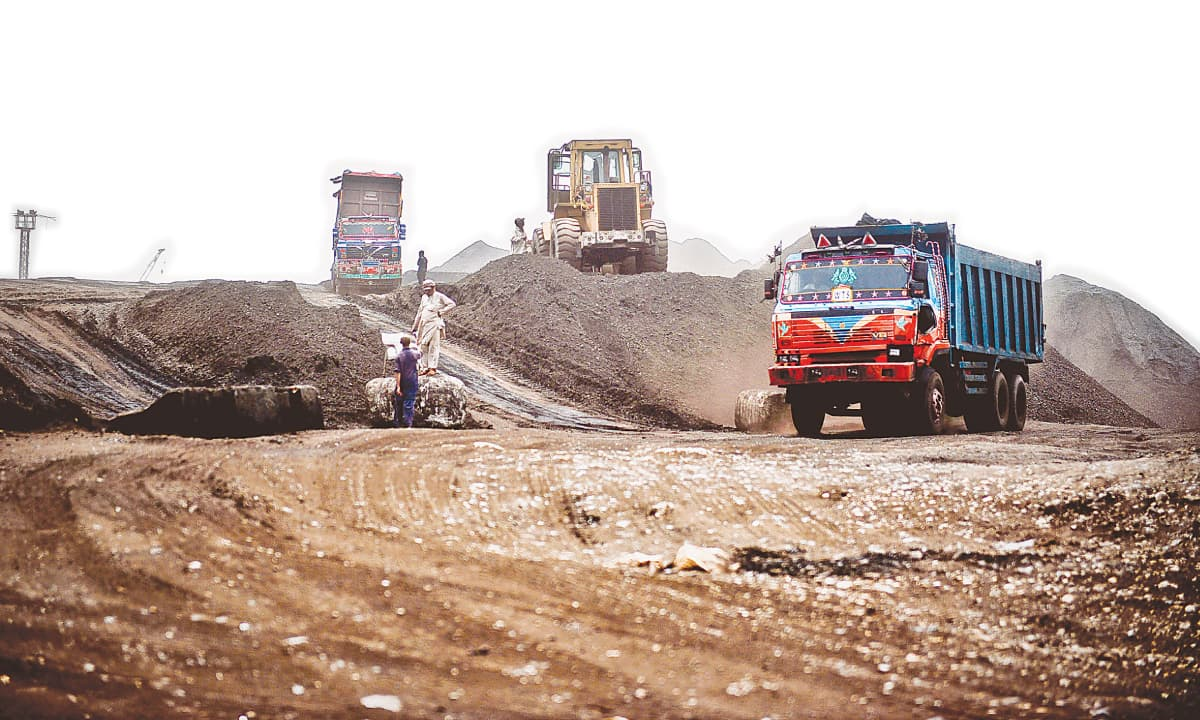 Coal being dumped at the port in Karachi | White Star