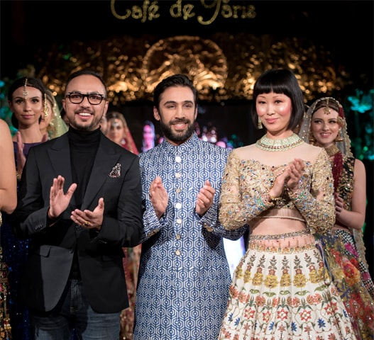Nomi with Ali Rehman Khan and models during his show in London