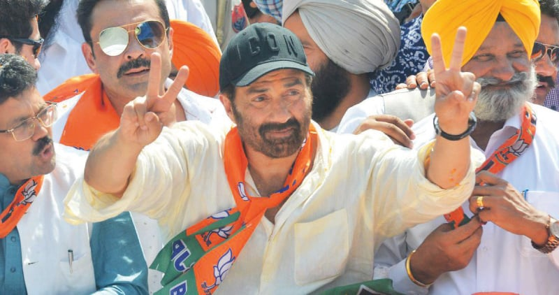 Sunny Deol, following in the footsteps of his father, actor Dharmendra, and stepmother, actress Hema Malini, ran for elections on a BJP ticket and won the Gurdaspur constituency in the Punjab | AFP