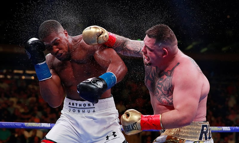In monster upset, underdog Andy Ruiz shocks Anthony Joshua for three heavyweight world titles