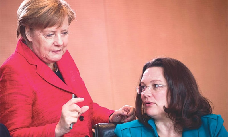 Jitters for Merkel's coalition as SPD chief resigns