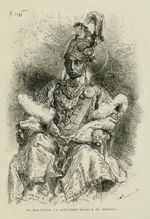 Sikandar Begum. — Louis Rousselet/Wikimedia Commons