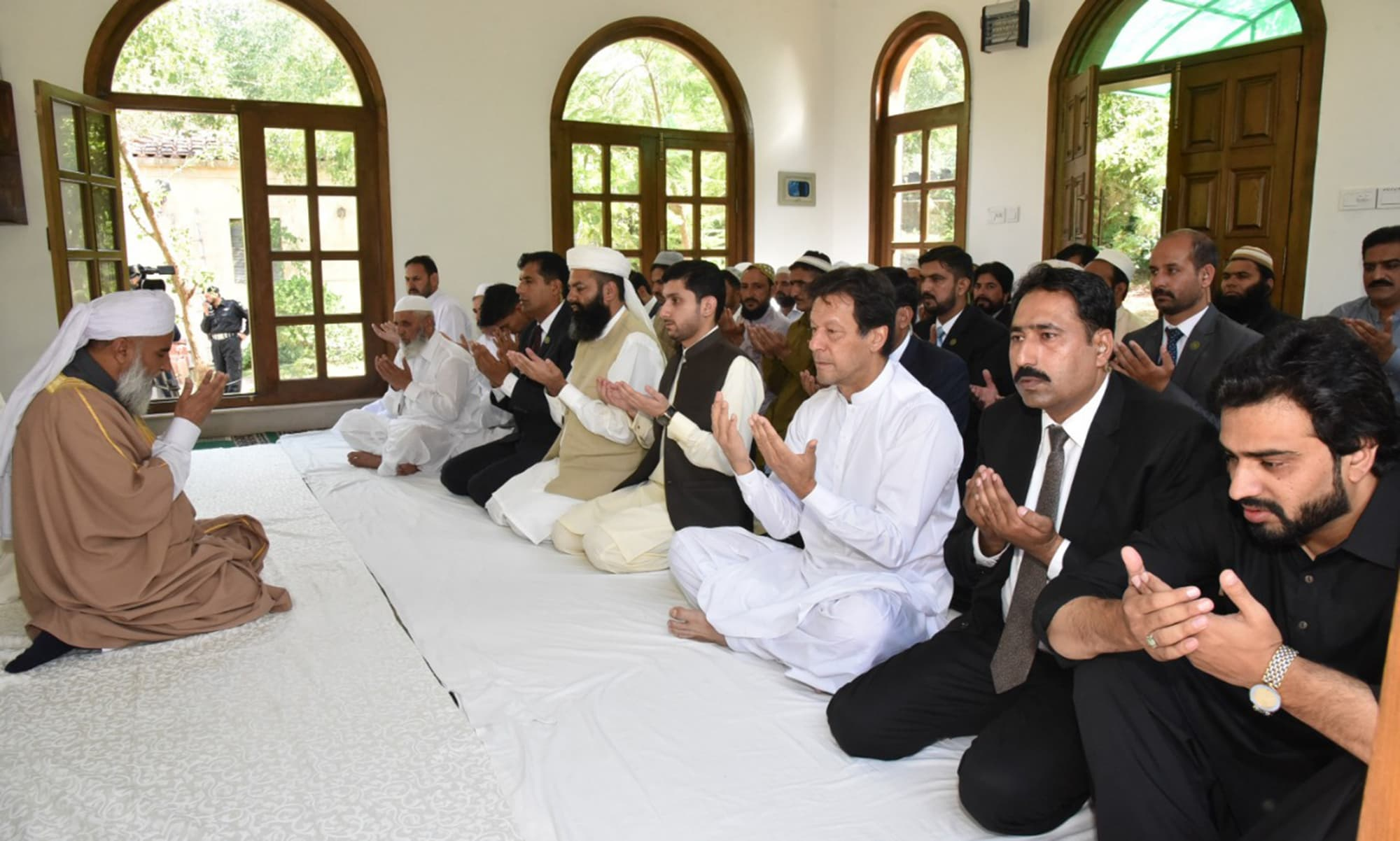 Prime Minister Imran Khan offers Eid prayers in Islamabad. — Photo courtesy Radio Pakistan