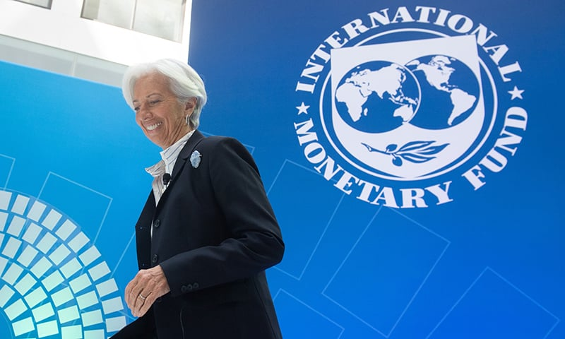 In this file photo taken on April 10,  IMF Managing Director Christine Lagarde during the IMF - World Bank Spring Meetings at International Monetary Fund Headquarters in Washington, DC. — AFP