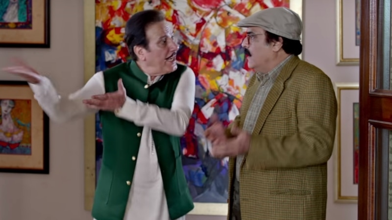 Javed Sheikh and Mehmood Aslam get some of the best lines of the script
