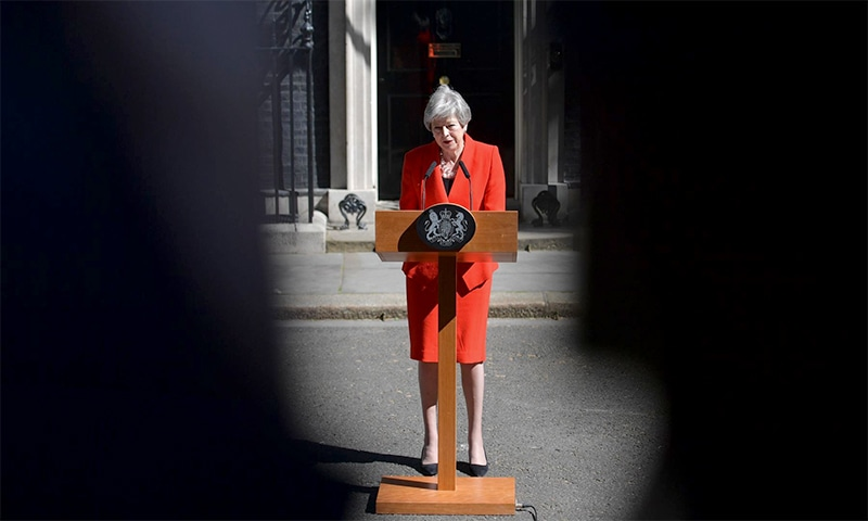 In a forlorn bid in March to appease the most ardent eurosceptic MPs in her party, British PM Theresa May offered to resign if they finally approved her deal. ─ AFP/File