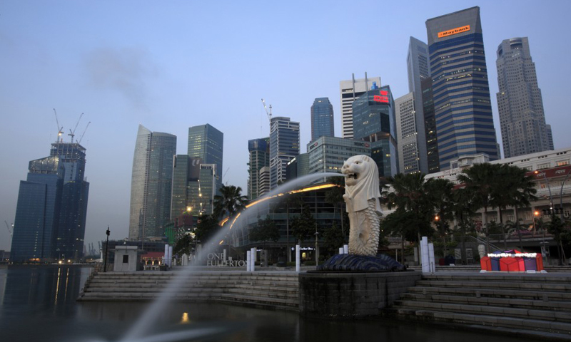 In this file photo, a general view of Singapore's financial district from Merlion Park is seen. — Reuters/File