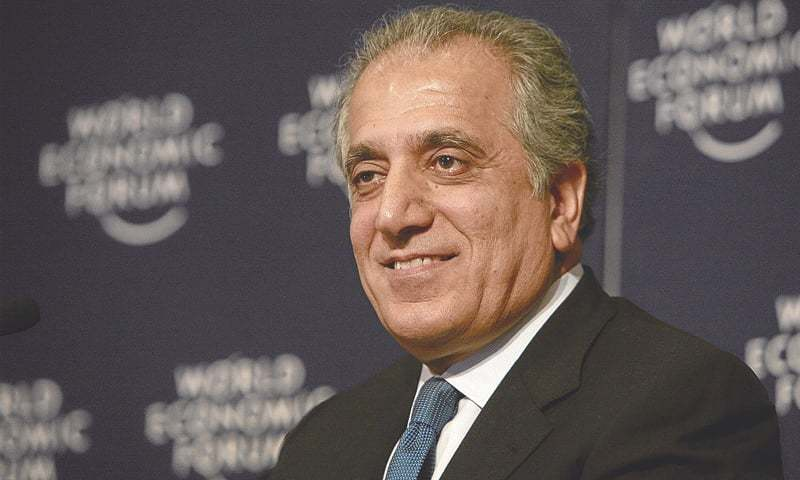 "Zalmay Khalilzad talked about ""what Pakistan can do to help advance the Afghan peace process"". — AFP/File"