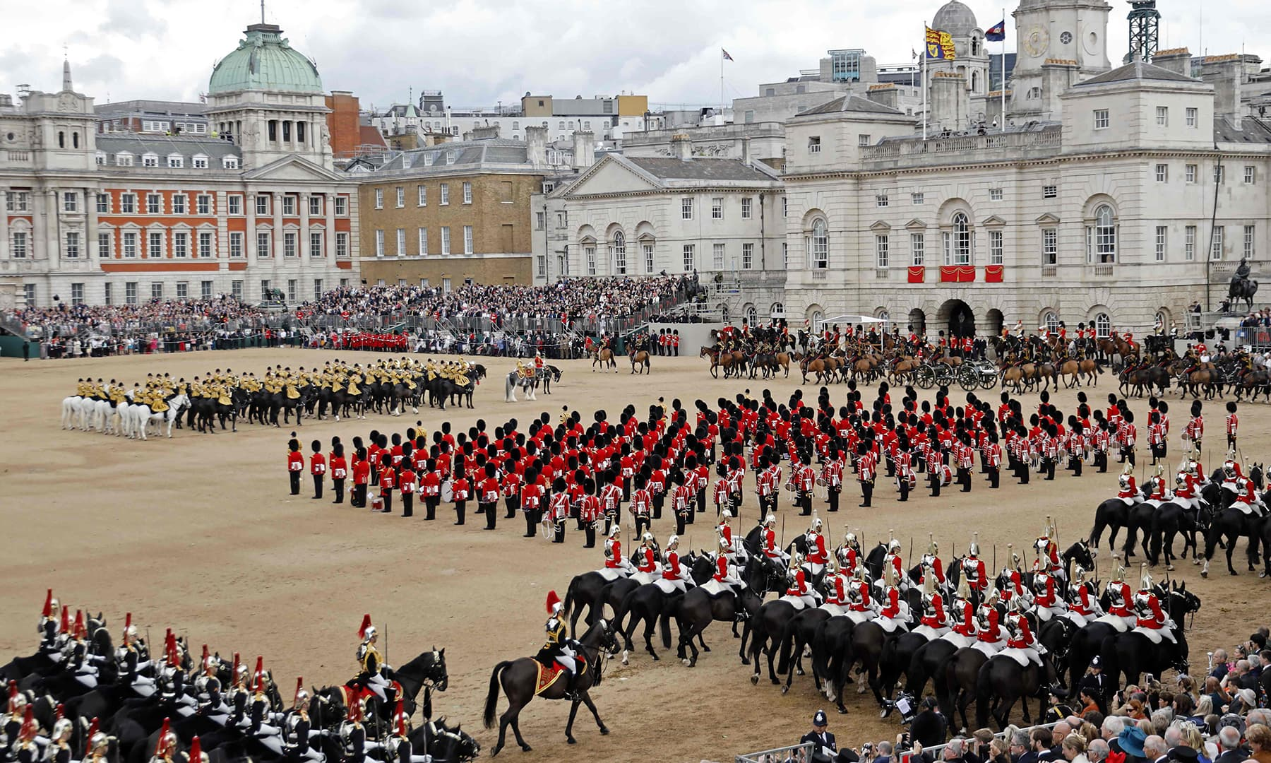 Britain's Queen Elizabeth II's Birthday Parade, 'Trooping the Colour', is performed in Horseguards parade in London on June 8. — AFP