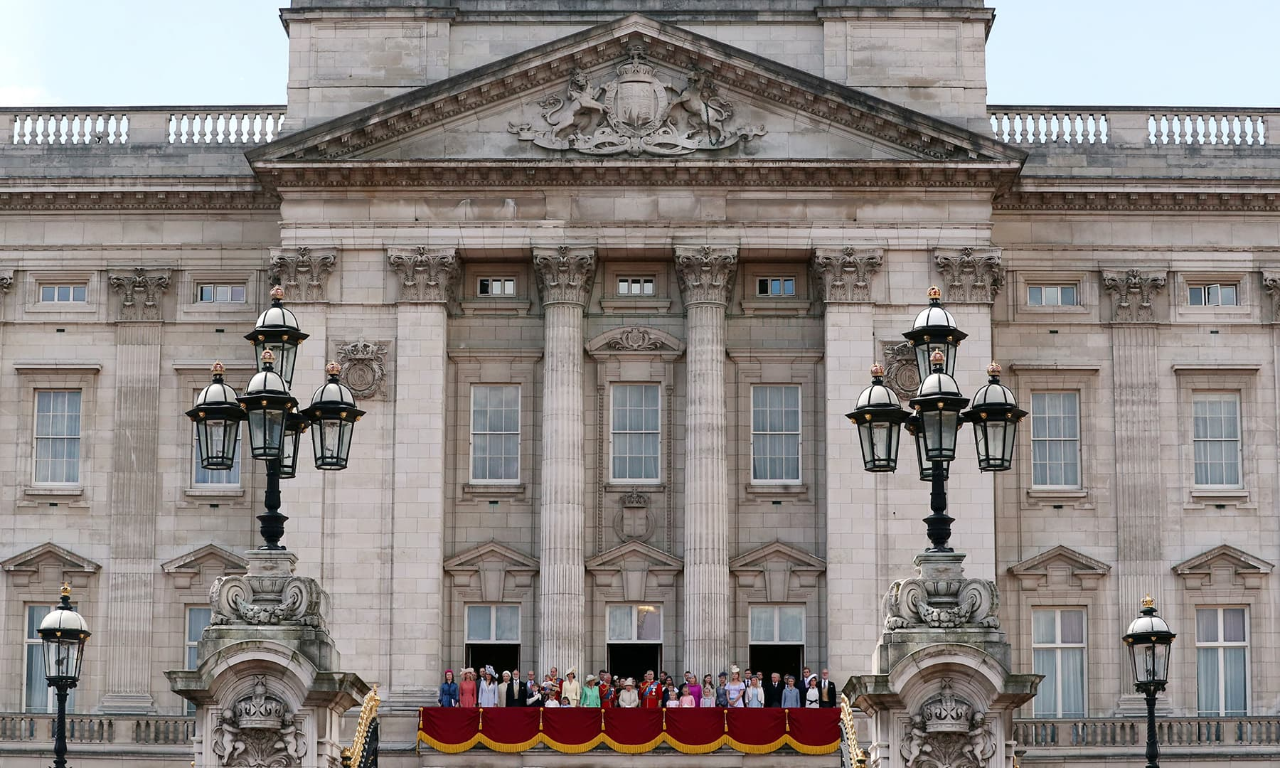 Members of the British royal family appear in the balcony of Buckingham Palace. — Reuters
