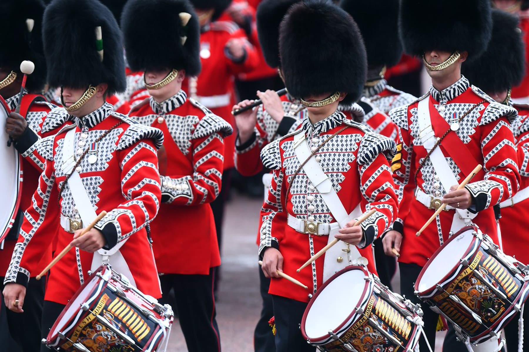 The Massed Bands perform. — Photo courtesy @RoyalFamily