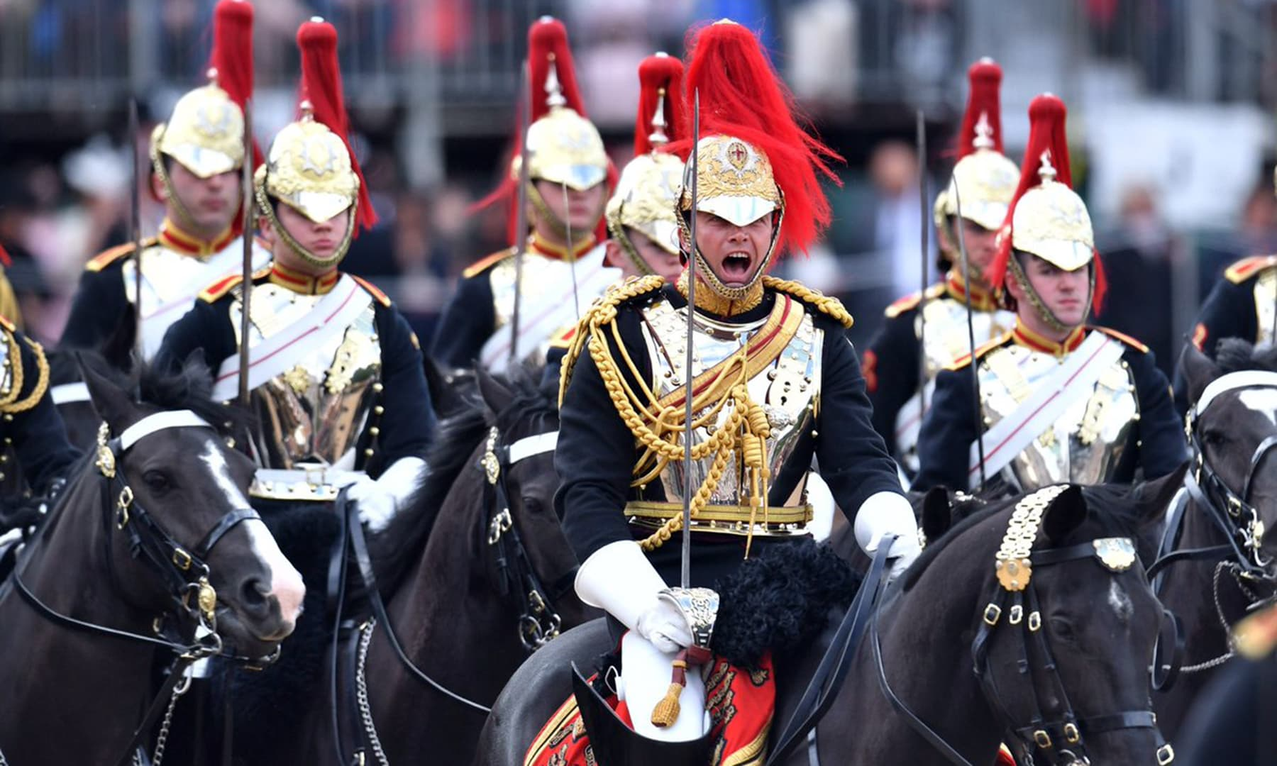 Troopers of the Blues and Royals at the Trooping the Colour parade. — Photo courtesy @RoyalFamily