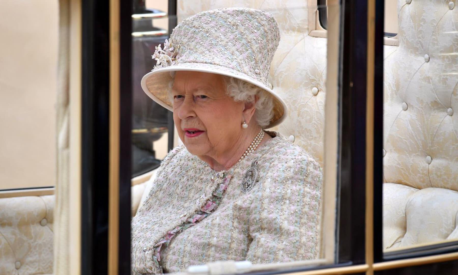 The Queen headed back to Buckingham Palace. — Photo courtesy @RoyalFamily