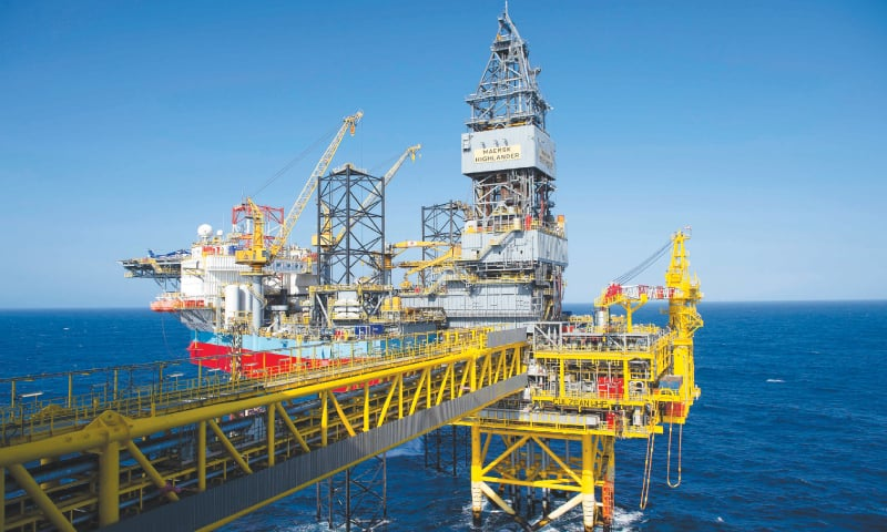 The Total Culzean platform is pictured on the North Sea, about 45 miles (70 kilometres) east of the Aberdeen, Europe's self-proclaimed oil capital on Scotland's northeast coast, on April 8, 2019.—AFP