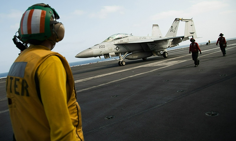 US carrier in Gulf sends clear signal to Iran