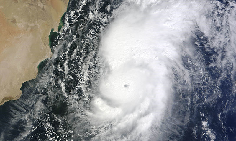 Cyclone developing in Arabian Sea
