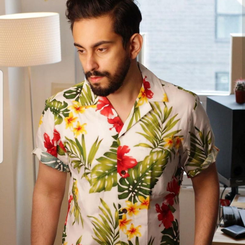 We are completely digging this Hawaiian look